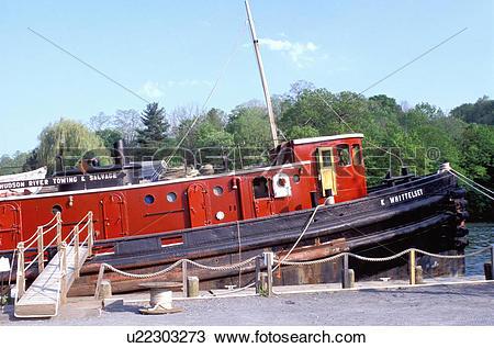 Stock Photo of tugboat, Hudson River Maritime Museum, Kingston.