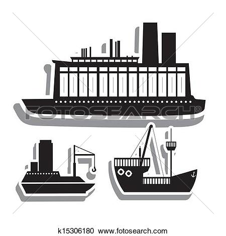 Clipart of maritime transport k15306180.