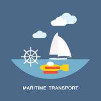Maritime Transport Vector stock vectors.