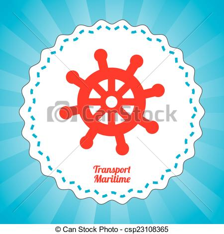 Clip Art Vector of maritime transport design.