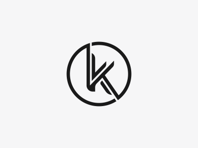 K Logo Mark Design.