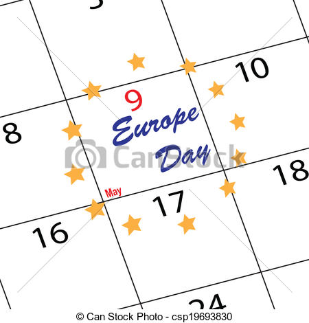 Vectors of Calendar Europe day.
