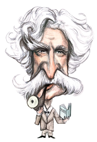 Mark Twain cartoon..