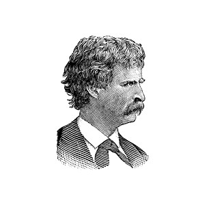 Mark Twain Clipart.