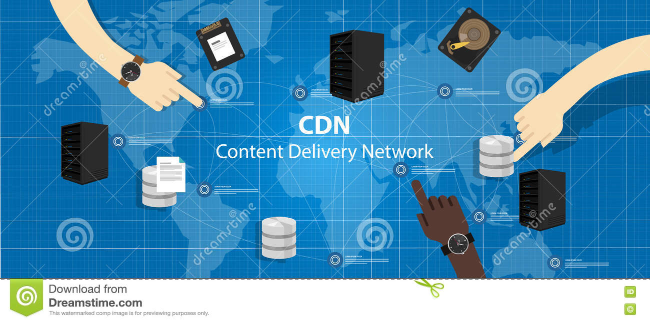 Content Distribution Network Clip Art.