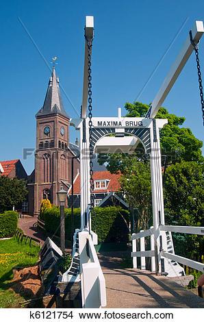 Stock Photo of Maxima Bridge In Village Marken k6121754.