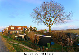 Stock Photography of Marken a small village near Amsterdam in The.