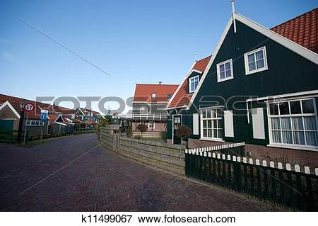 Picture of Traditional Fisherman's cottage village at Marken the.