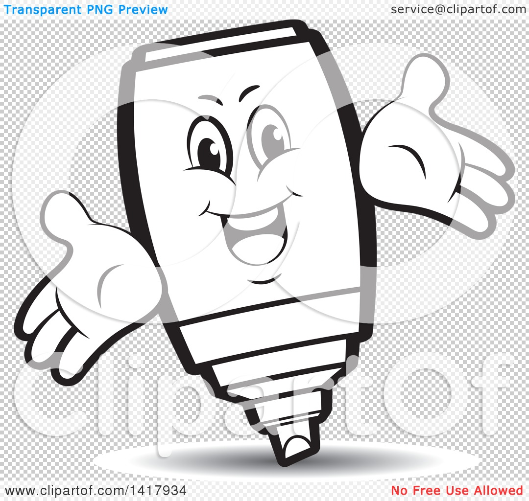 Clipart of a Marker Character.