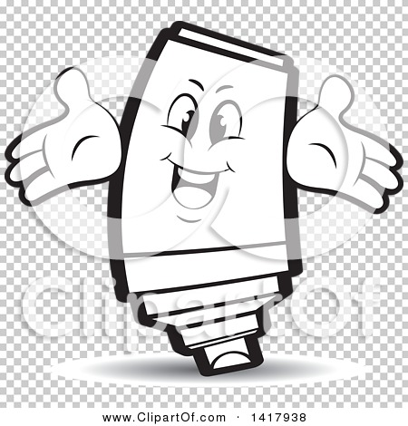 Clipart of a Happy Marker Character.