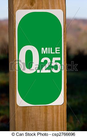 Stock Image of Mile Marker.
