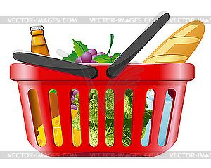 Grocery Shopping Clip Art.