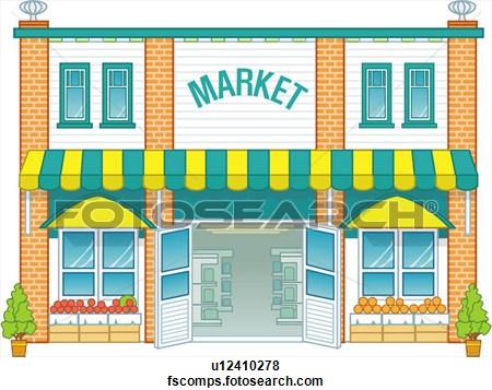 Market Clip Art.