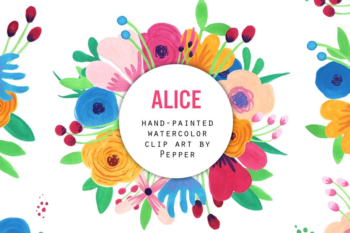 Flower Watercolor Clip Art Pack ~ Illustrations on Creative Market.
