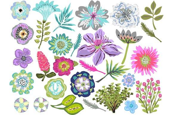 Flowers Clip Art Tropical ~ Illustrations on Creative Market.
