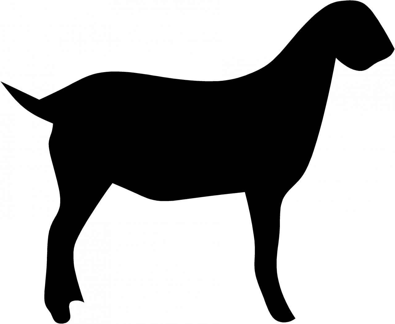 Free Market Goat Silhouette, Download Free Clip Art, Free.