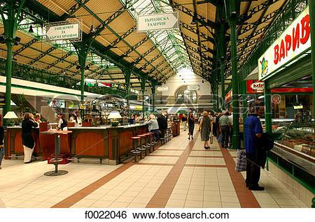 Stock Images of Bulgaria, Sofia, Halite Market Hall f0022046.