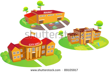 School Building Stock Images, Royalty.