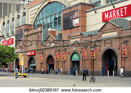 """Picture of """"Covered market hall, Hay Street at Paddy's Market."""