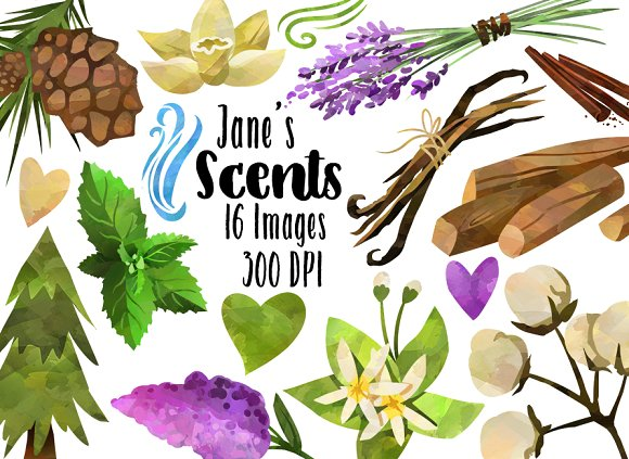 Nature Scented Themed Items Clipart ~ Illustrations on Creative Market.