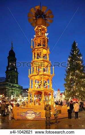 Stock Photography of Germany, Saxony, The largest christmas market.