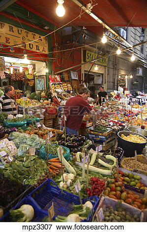 Picture of Traditional Vucciaria market, Palermo, Italy mpz3307.