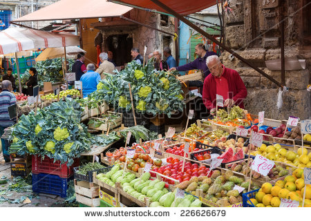 Palermo Market Stock Photos, Royalty.
