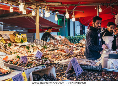 Italian Market Stock Photos, Royalty.