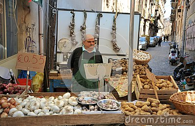 Palermo Market Editorial Stock Photo.