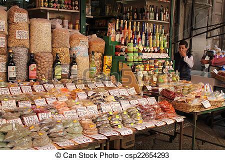 Stock Photographs of Palermo, Mercato del Capo.