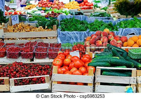 Stock Photos of Farmers market place.