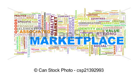 wordcloud of marketplace.