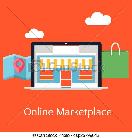 Online marketplace Vector Clip Art Royalty Free. 187 Online.