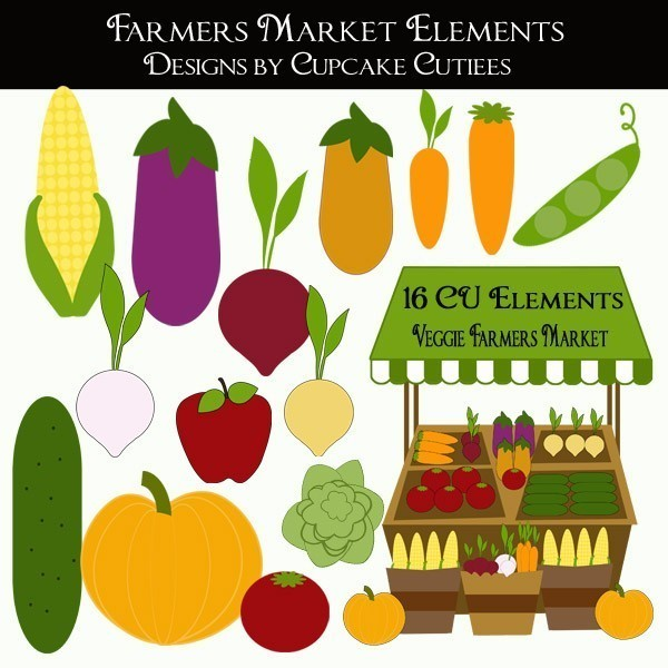 Farmers Market Stand Clipart.