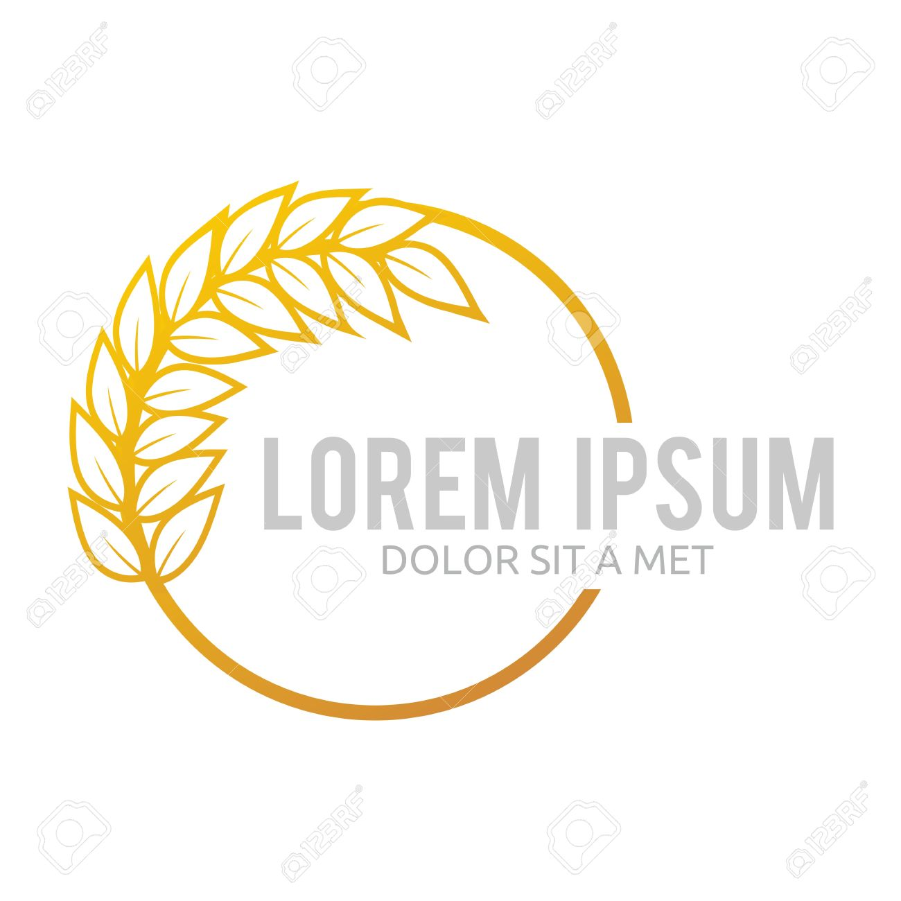 Wheat Abstract Market Plant Product Design Royalty Free Cliparts.