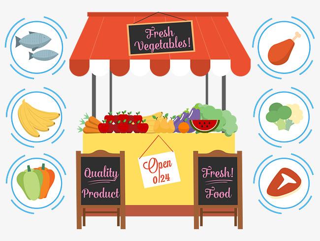 Market Stalls, Vegetable Market, Food Market, Selling.