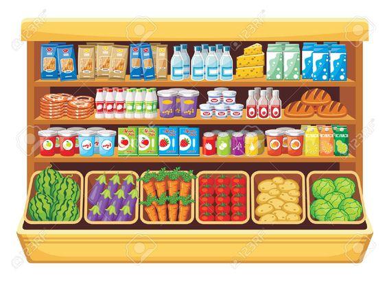 Supermercado Ilustraciones Vectoriales, Clip Art Vectorizado Libre.
