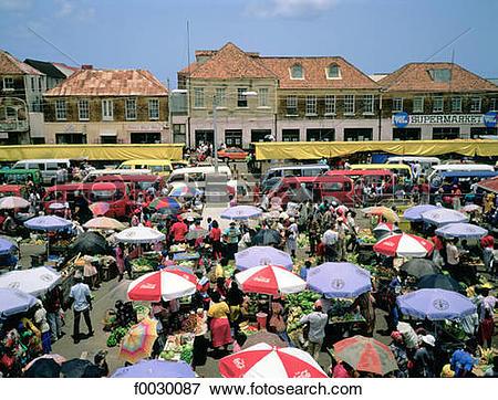 Picture of Granada, Saint George's, market square f0030087.
