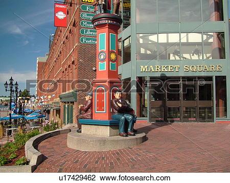 Stock Photo of Canada, New Brunswick, Saint John, Market Square in.