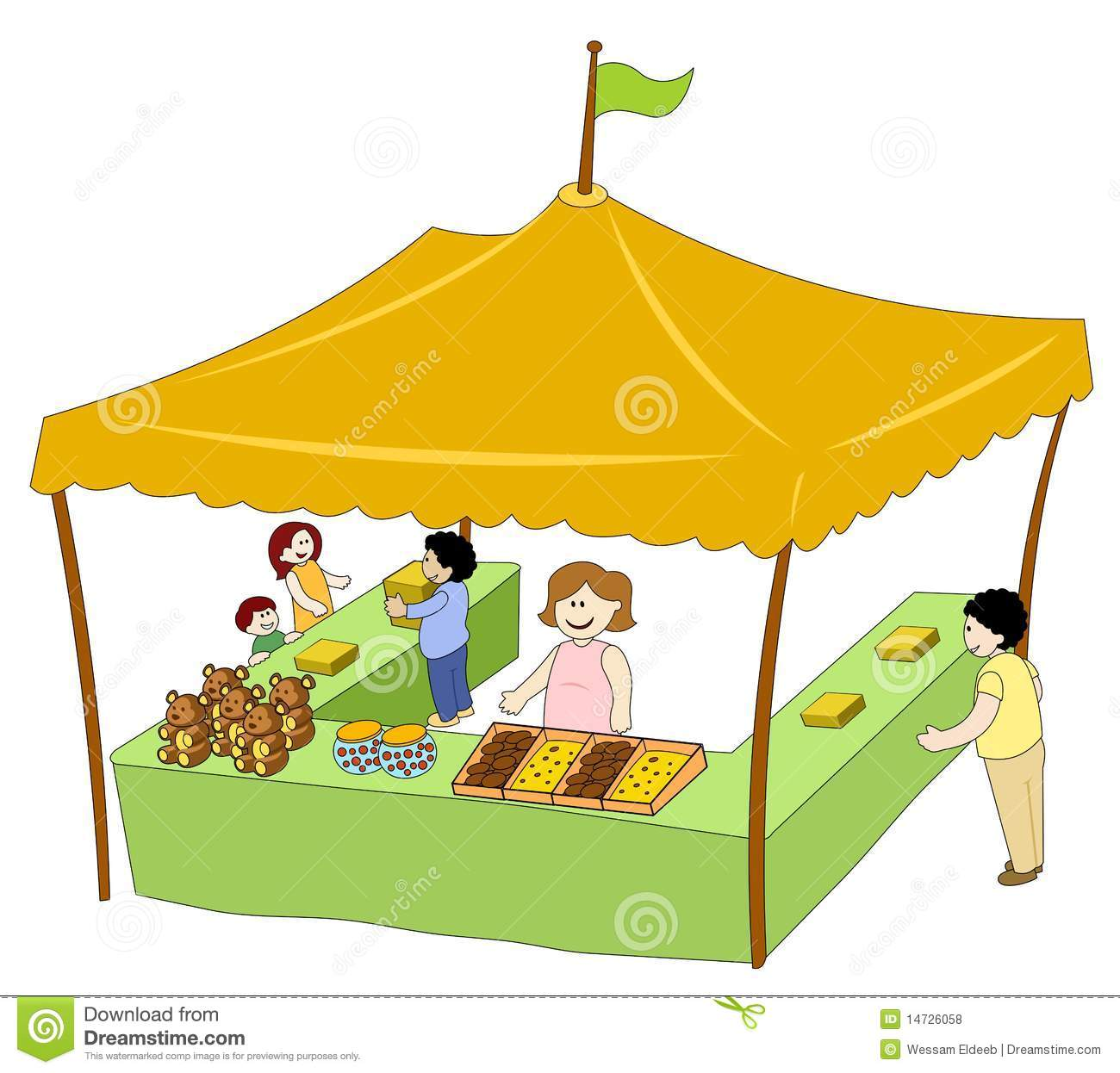 Market Stall Cartoon Stock Photos, Images, & Pictures.