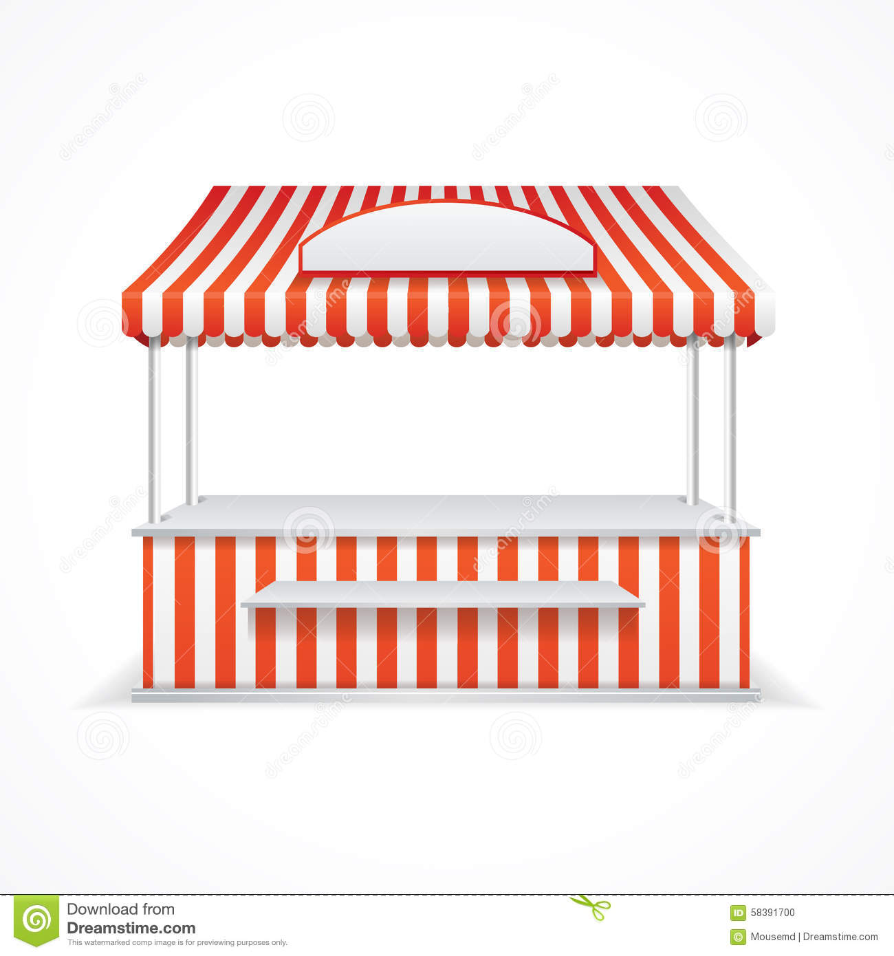 Exhibition Stall Vector Free Download : Market stall clipart clipground
