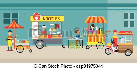 Street food Clip Art and Stock Illustrations. 3,954 Street food.