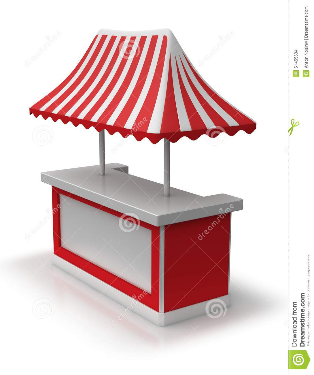 Red Market Tent Stock Illustration.