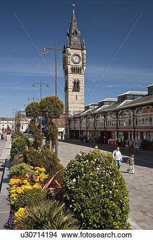 Stock Photo of England, County Durham, Darlington. Market Square.