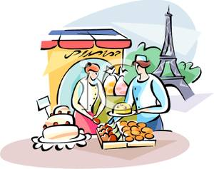 French Market Clipart.
