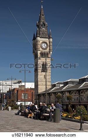 Stock Photography of England, County Durham, Darlington. Market.