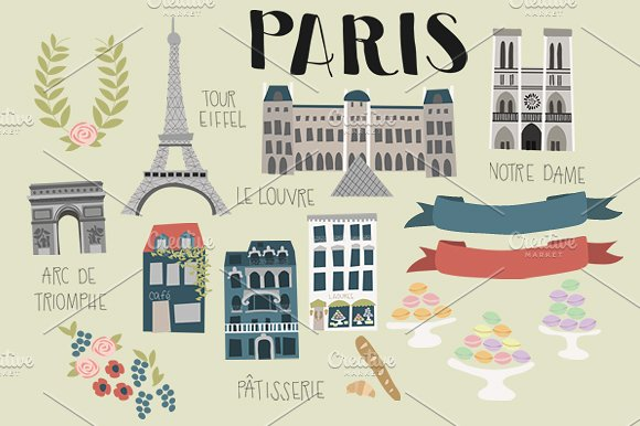 Paris Clip Art ~ Illustrations on Creative Market.