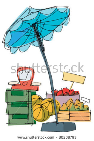 Market Umbrella Stock Photos, Royalty.