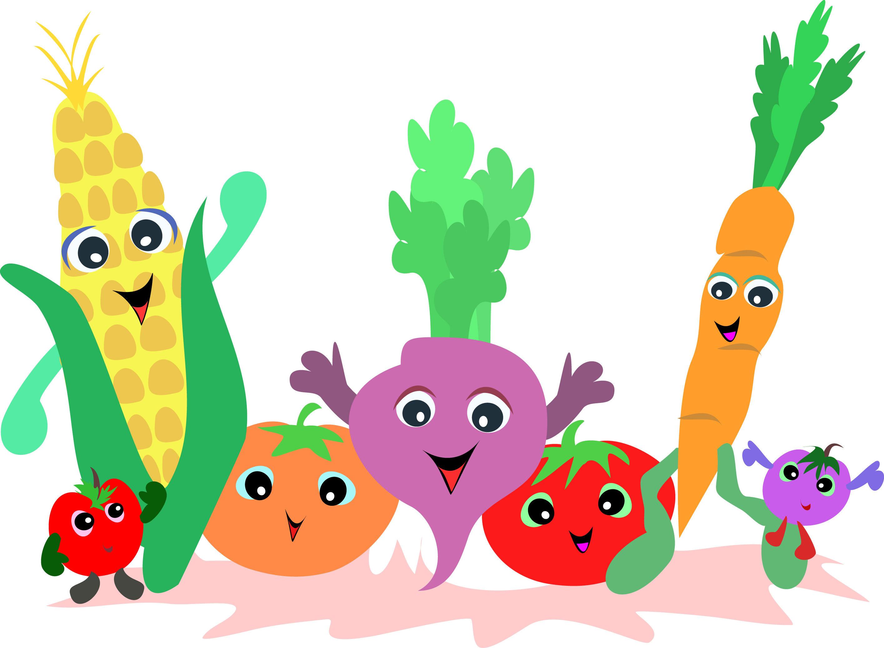 Farm vegetables clipart.