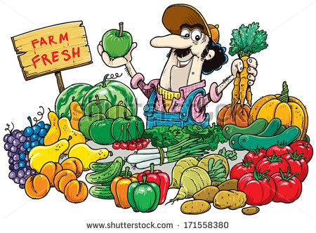 Vegetable Seller Clipart.